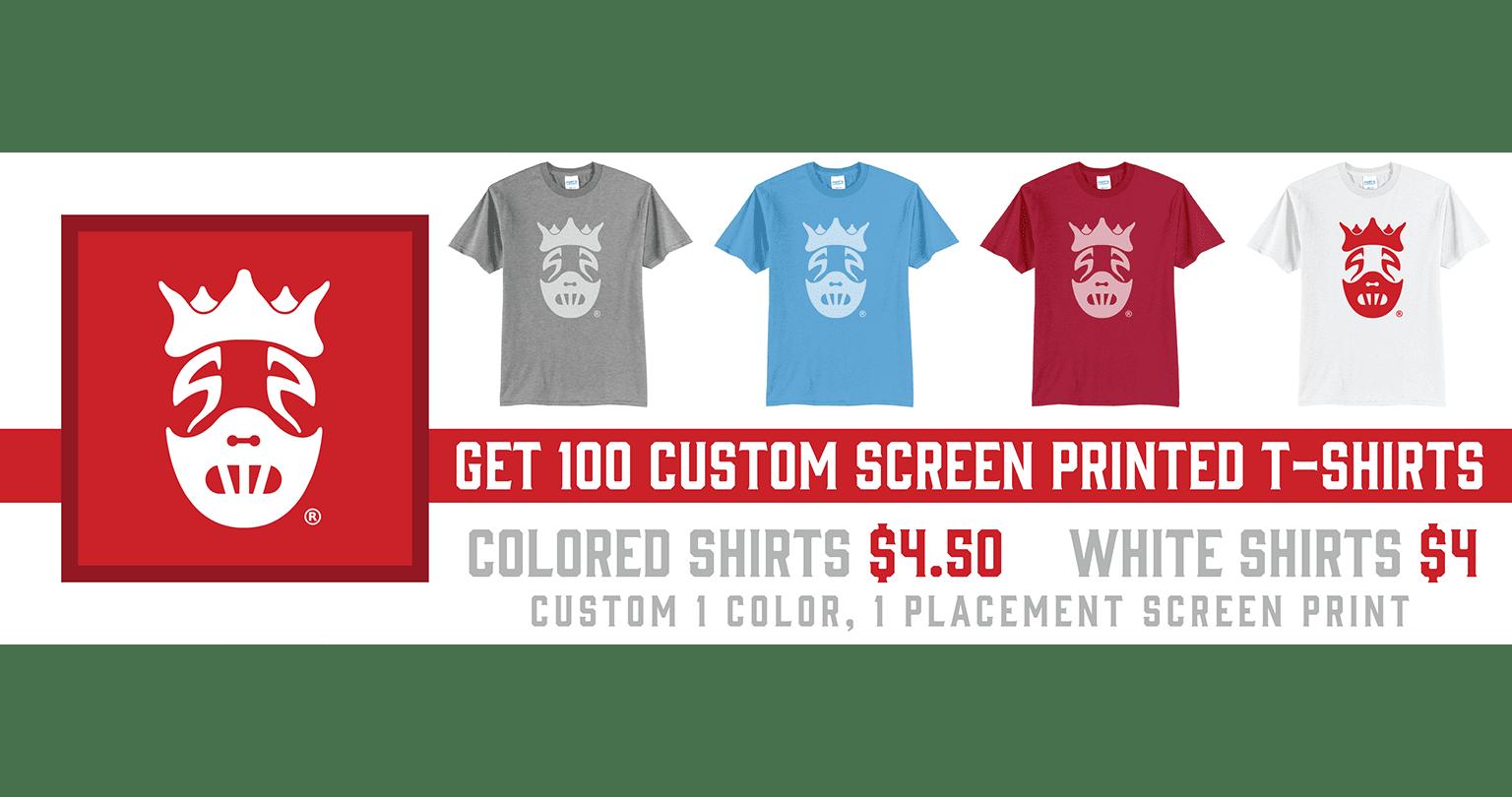 100 Shirt Special - December 1